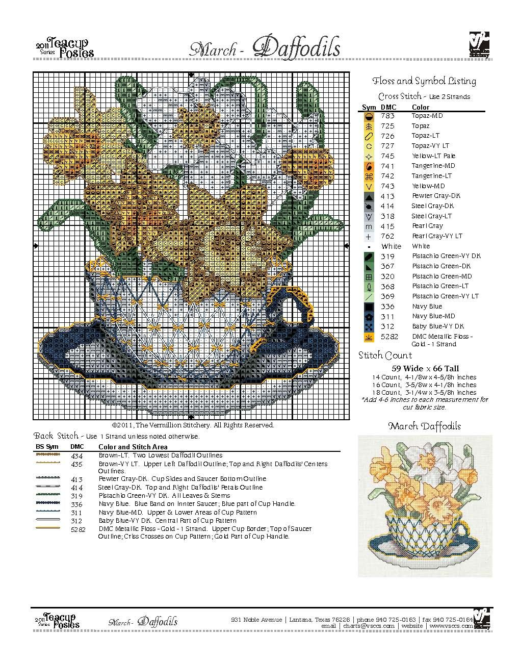 sandylandyaoutlook.es March Color Floral cross stitch