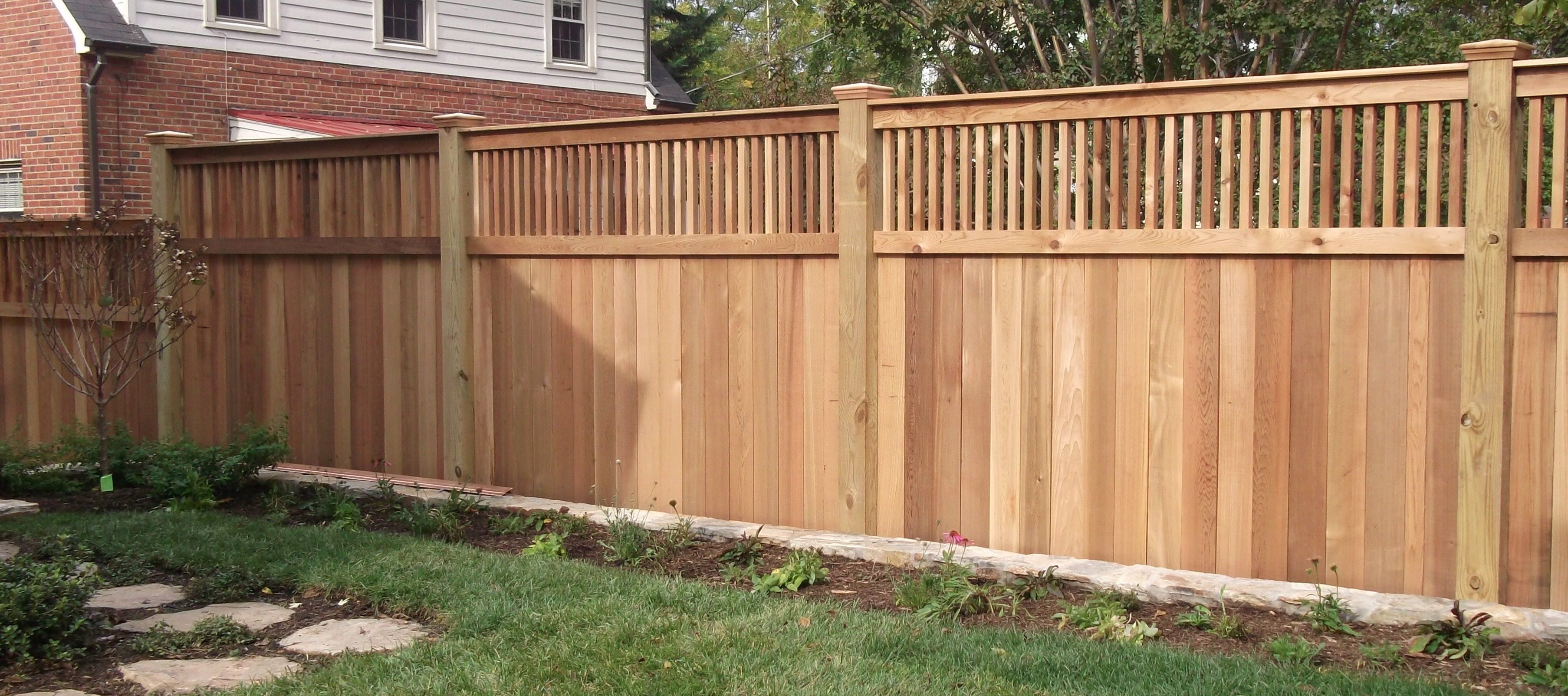 Classy pine stockade pressure treated wood fence panel for for Simple fence plans