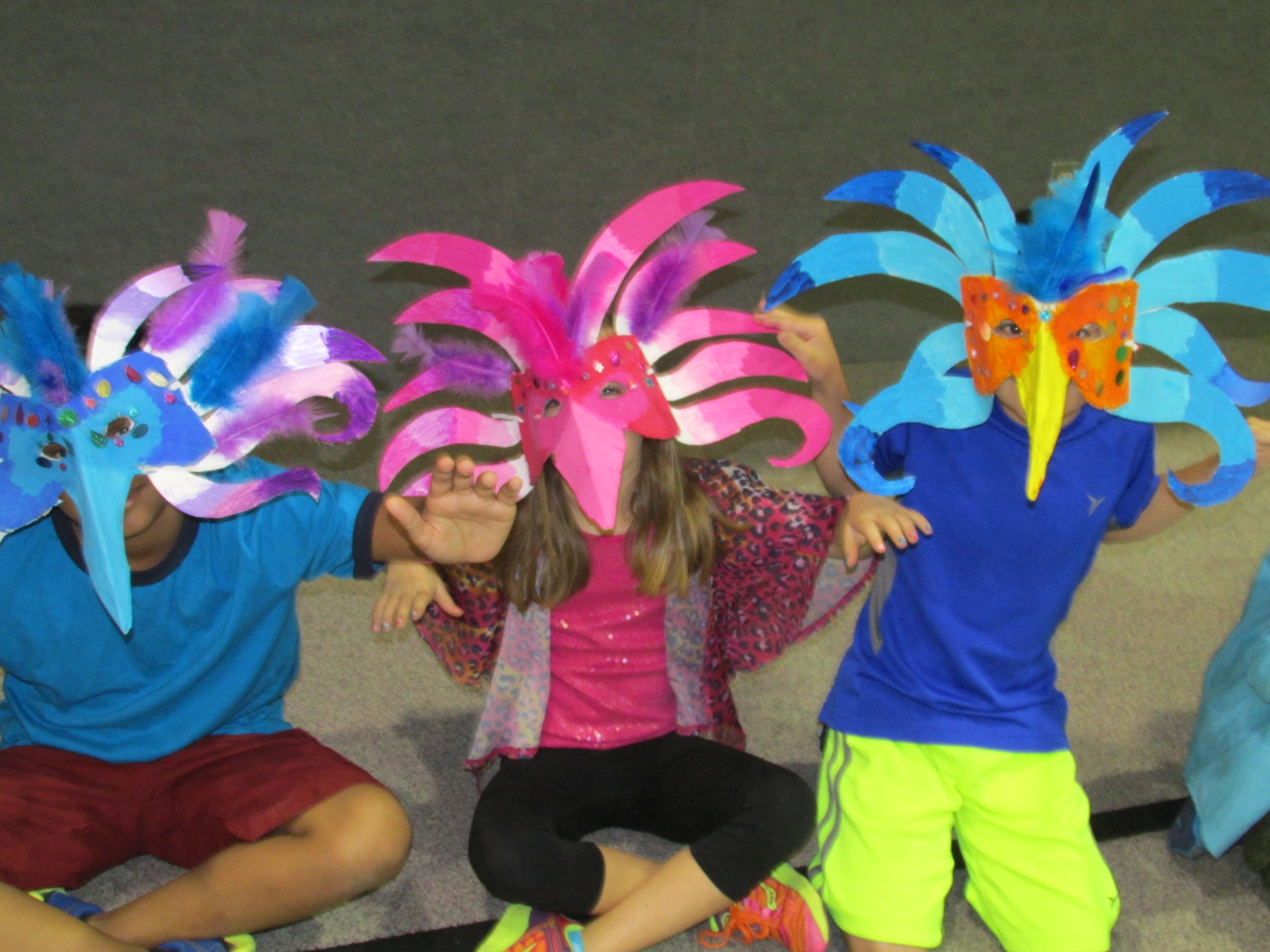 Paper Mache Brazilian Carnival Bird Mask By My 3rd Grade