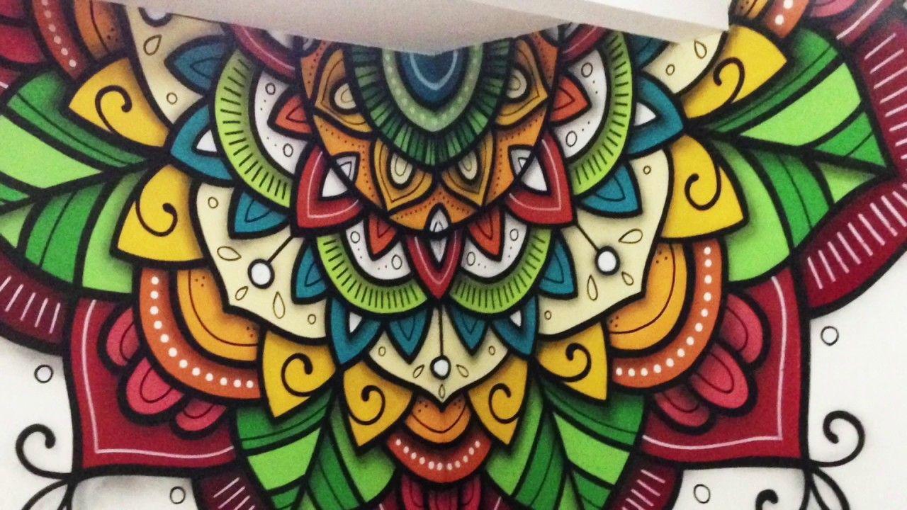 Mandala Em Quina De Parede Mandalas Para Colorear Mandala Art