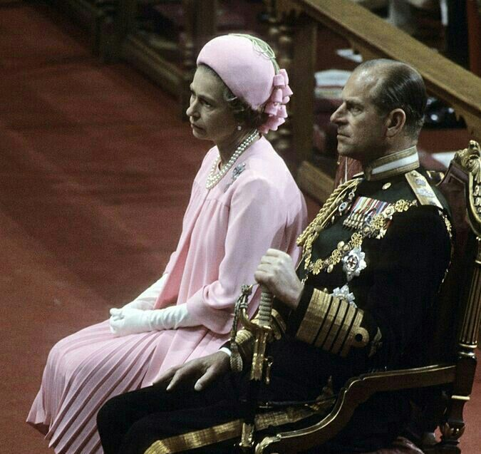 1977: The Queen and The Duke of Edinburgh at Saint Paul's Cathedral for the National Service of Thanksgiving in celebration of The Queen's Silver Jubilee