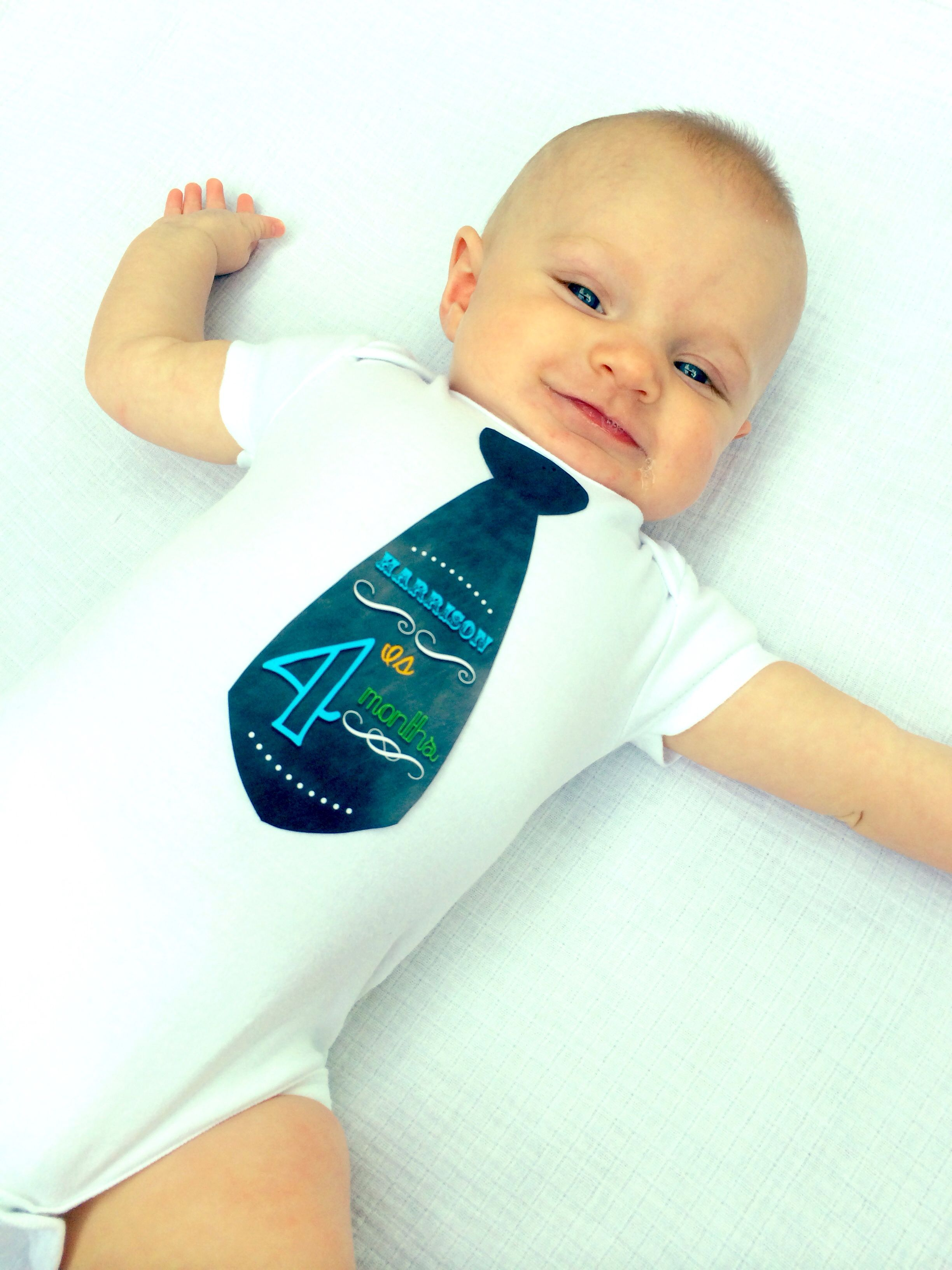 My Sweet Baby Hims Is 4 Month Baby Picture Idea Tie From Etsy