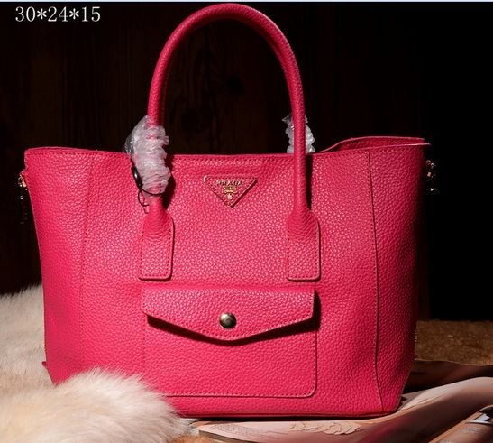 2839ff87e356 2014 Cheap Prada two way Glace calf leather tote bn2650 peony pink ...