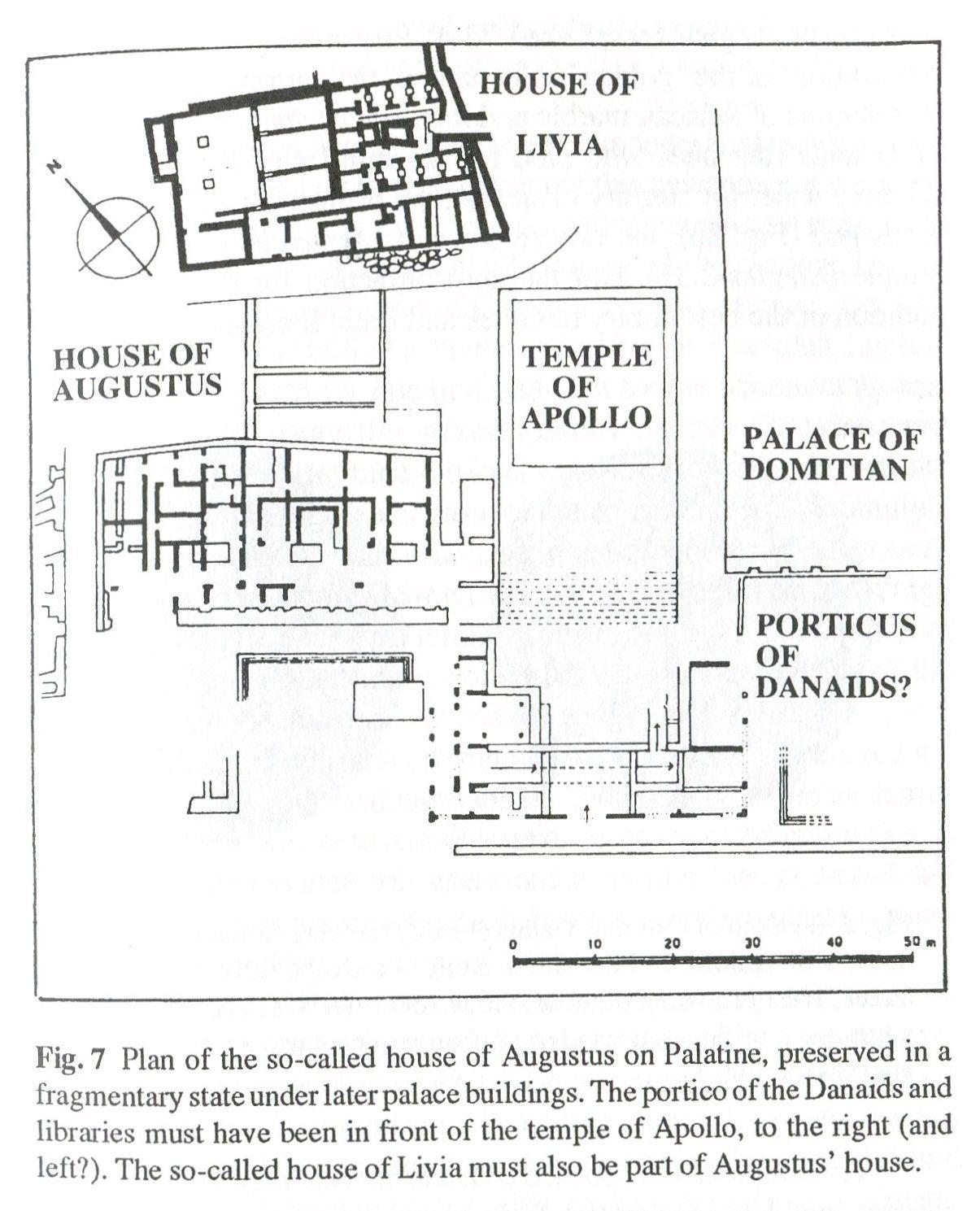 hight resolution of plan of house of augustus on the palatine roman history roman art ancient romans