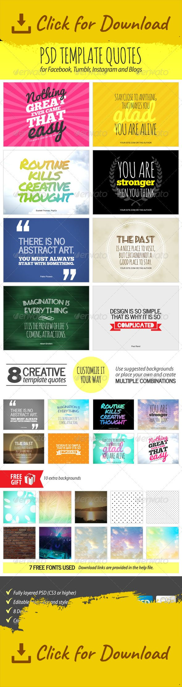 PSD Template Quotes | Pinterest | Edit text, Backgrounds free and Adobe