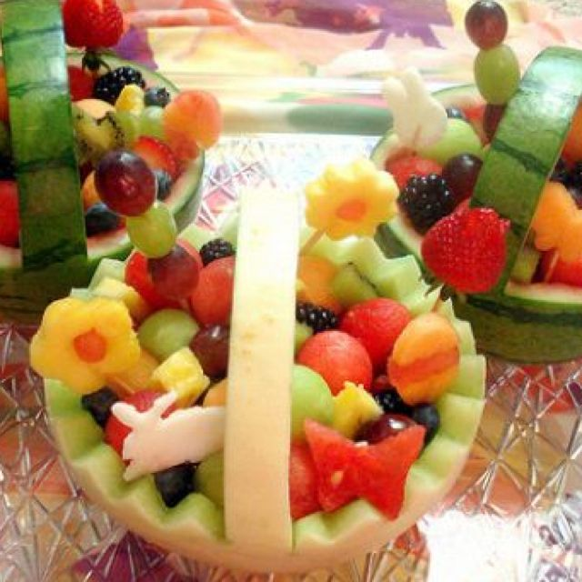 19 ideas for a healthier easter basket easter baskets fruit 19 ideas for a healthier easter basket negle Gallery