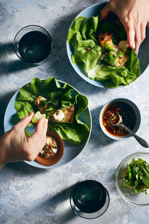 Fish Ssam Barramundi Lettuce Wrap Quick Weeknight Dinners Food Healthy Vegan Snacks Super Healthy Recipes