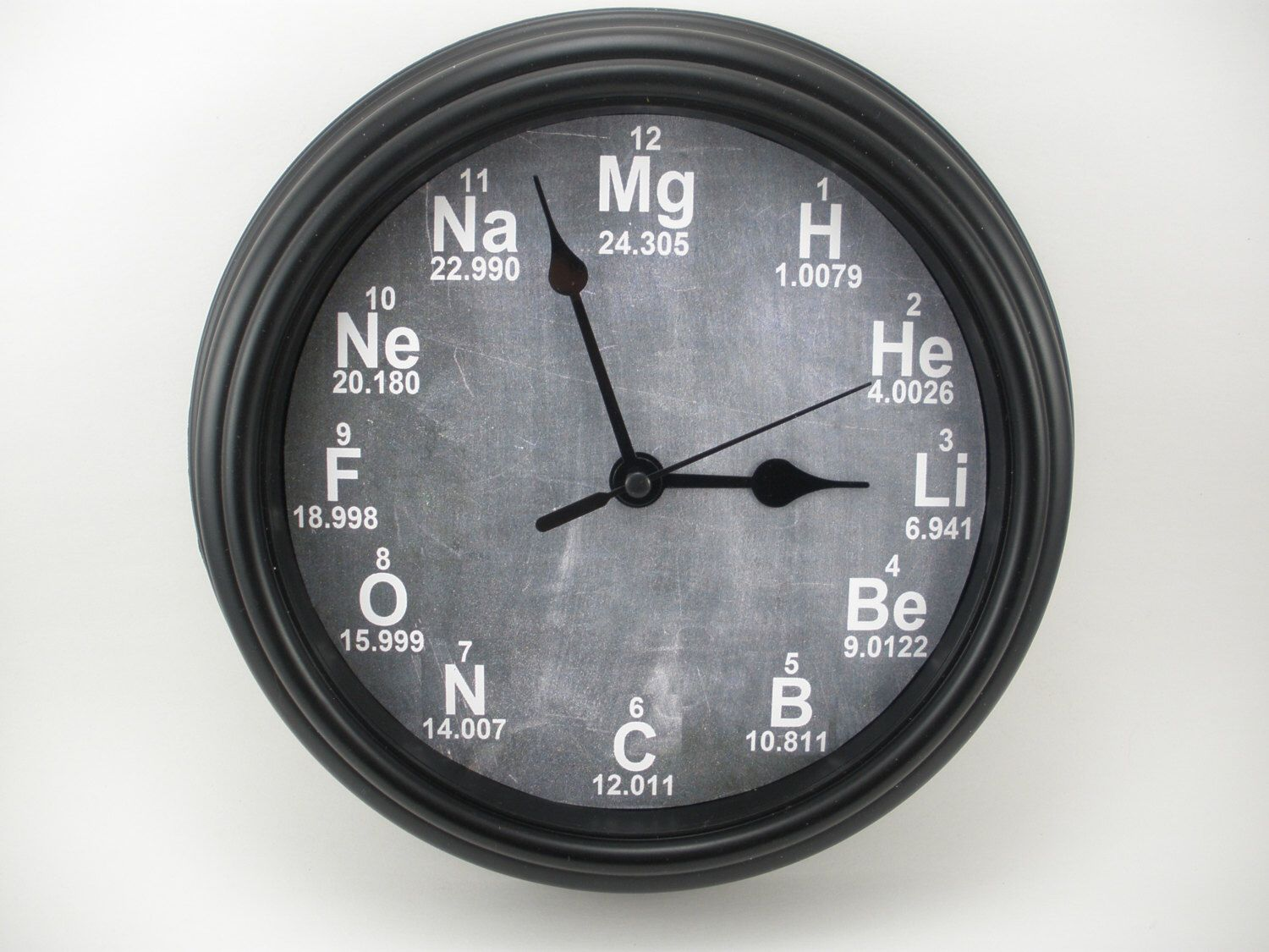 Personalized science periodic table chemistry teachers wall clock personalized science periodic table chemistry teachers wall clock by clockadoodledew on etsy https urtaz Images