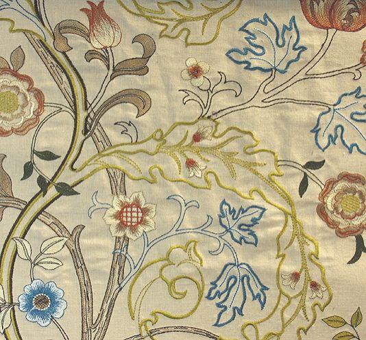 Mary Isobel Embroidered Fabric Fabrics Curtain Ideas And Curtain