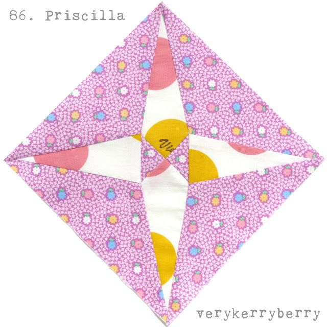 verykerryberry: Farmer's Wife Quilt-Along, blocks 85 and 86, Primrose and Priscilla