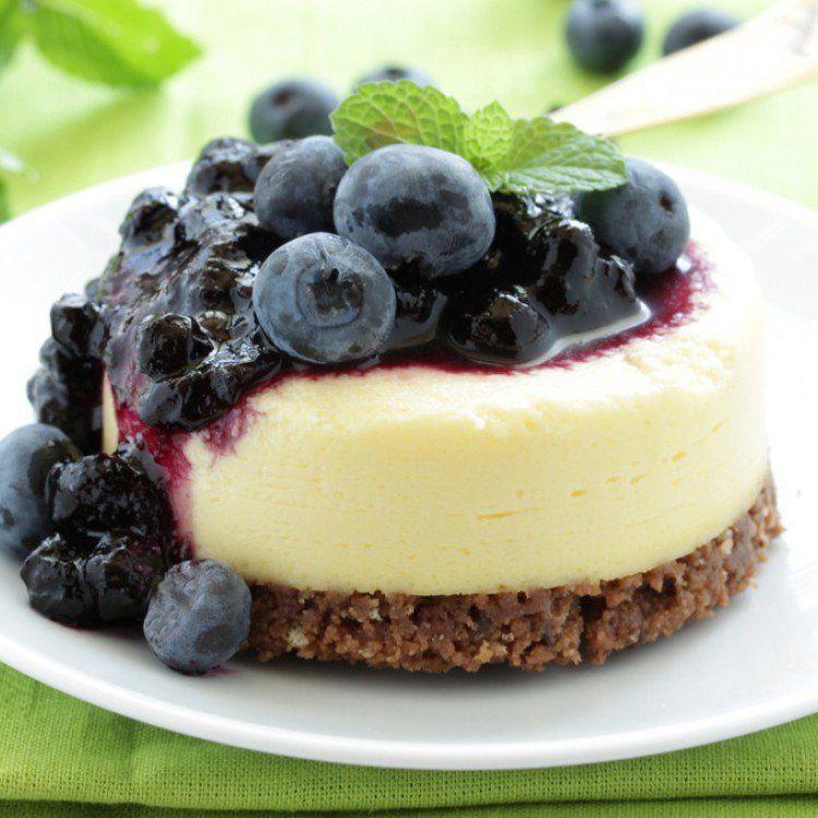 طريقة عمل تشيز كيك البلوبري بدون فرن حلويات تشيز كيك Blueberry Cheesecake Recipe Sous Vide Dessert Food