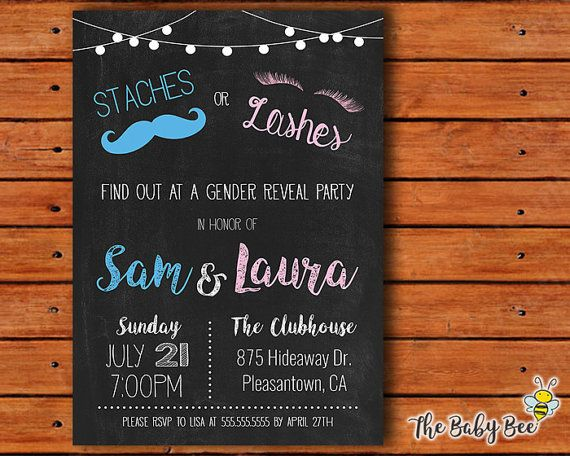 Gender reveal invitation staches or lashes chalkboard background gender reveal invitation staches or lashes chalkboard background do it yourself printable invitations solutioingenieria Choice Image
