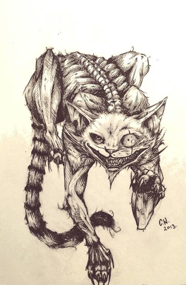 Here Kitty Kitty Cheshire Cat Art Cheshire Cat Drawing Alice In Wonderland Drawings