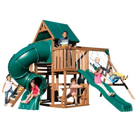 Toys Wooden Swings Playground Set Wooden Playset