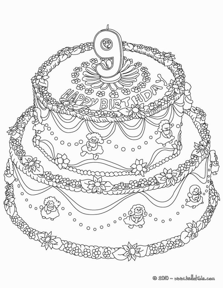 Coloring Pages For 9 Year Olds Happy Birthday Coloring Pages