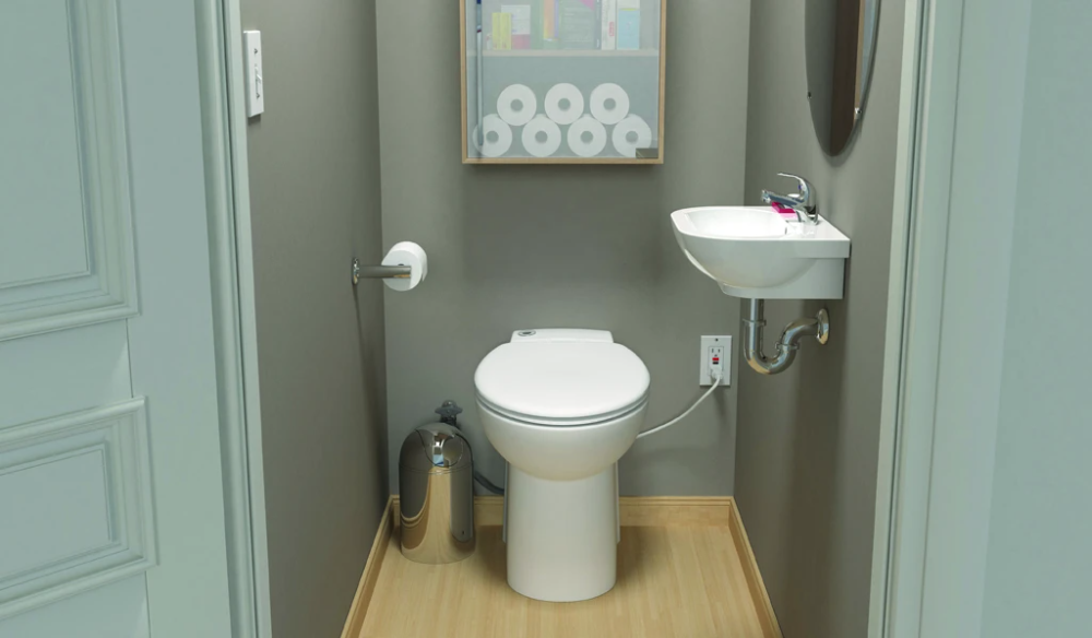 Saniflo SaniCOMPACT Toilet in 2020 | Upflush toilet, Half ...