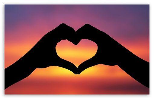 I Love You 3 Hands Making A Heart Love Backgrounds Best Friend Wallpaper Hand shaped love wallpaper in sunset