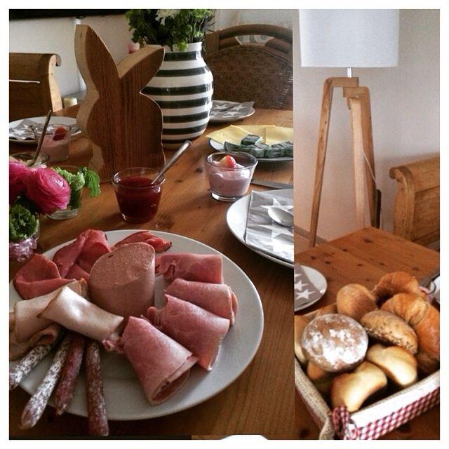 Breakfast at home! Frühstück zu Hause!