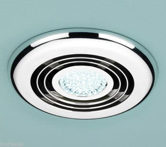 Hib cyclone fan with led light chrome 32700 shower lighting fans hib cyclone fan with led light chrome 32700 aloadofball Choice Image