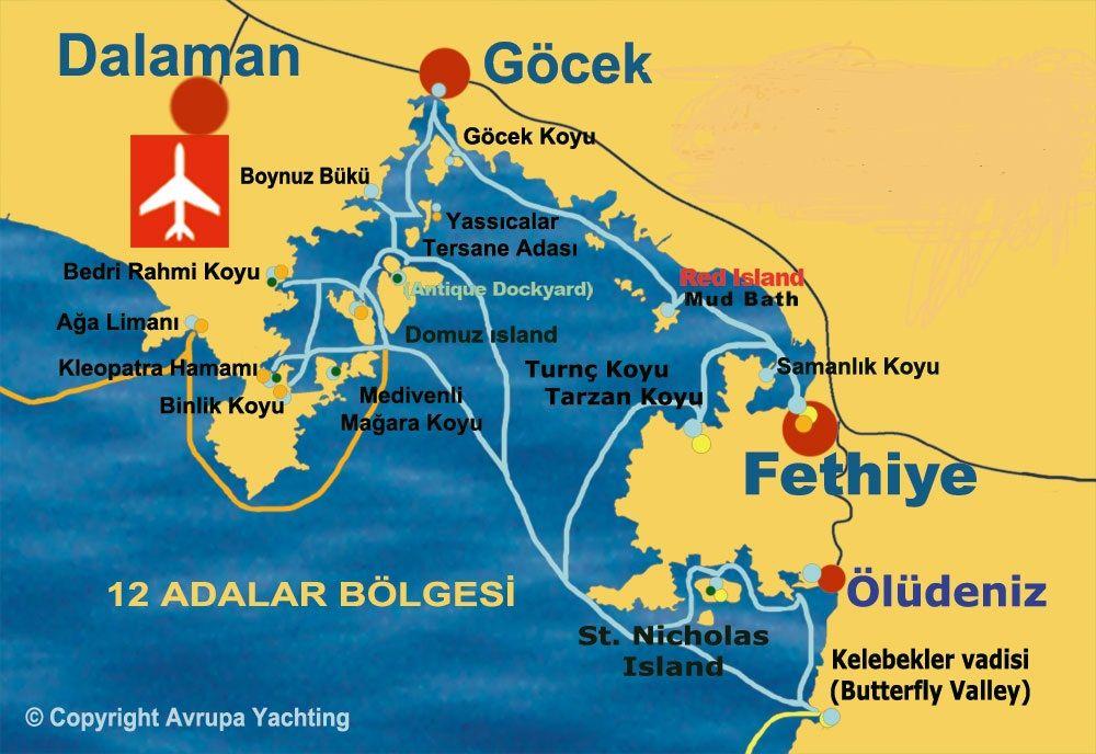 45 minuten rijden Dalaman airport naar Fethiye Turkey Pinterest