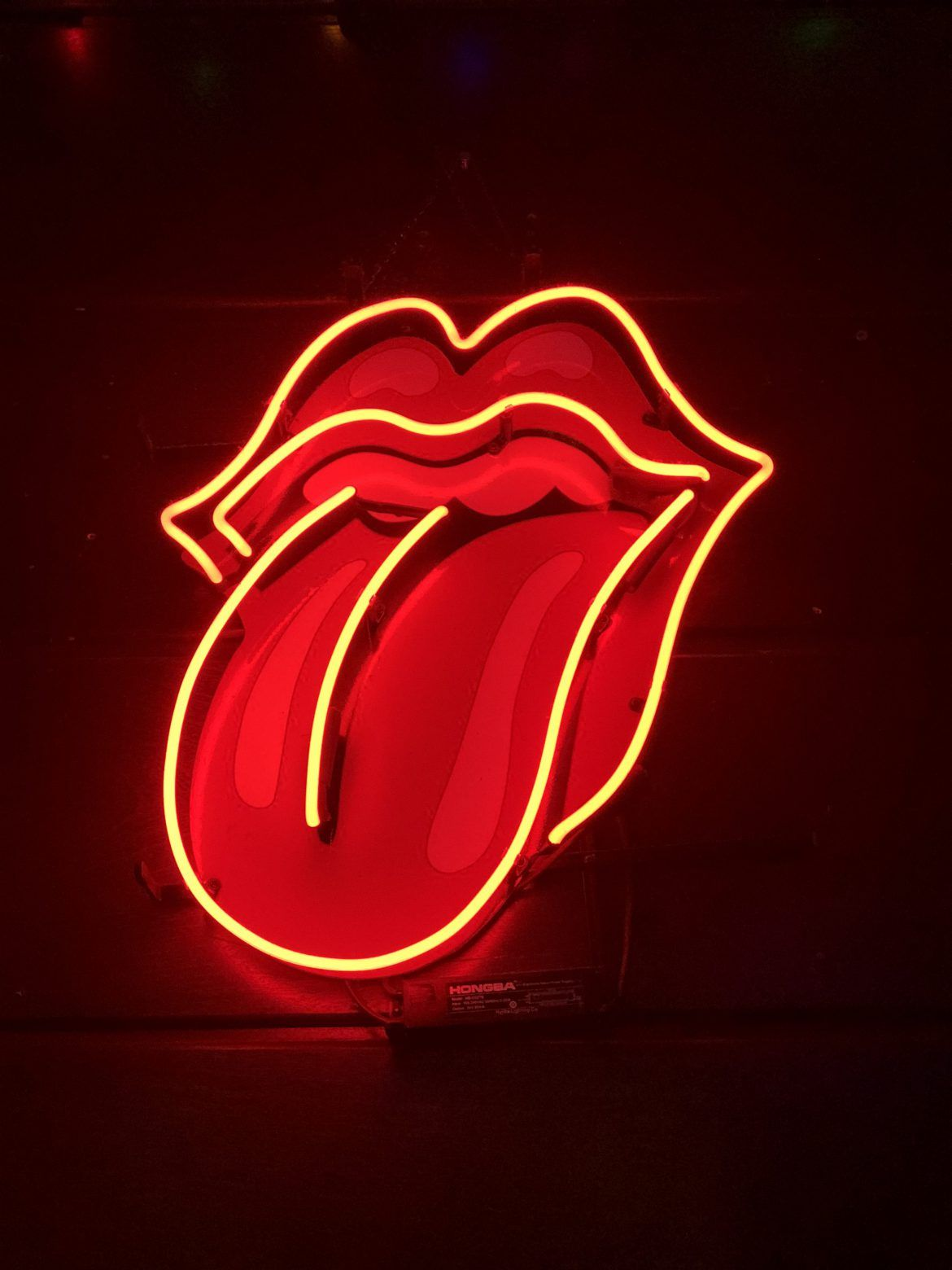 The Rolling Stones Tongue Logo Neon Sign Free Stock Photo