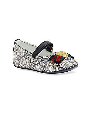 f09c0039291 Gucci Baby's GG Supreme Canvas Ballet Flats | Products | Gucci baby ...