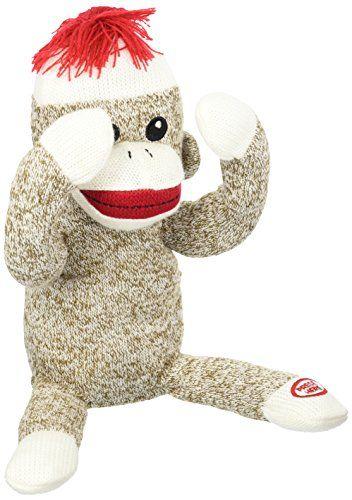 Baby Starters Peekaboo Sock Monkey Toy Brown For More
