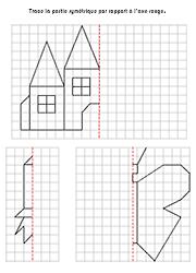 Exercices ducatifs imprimer sym trie sur quadrillage sym trie sym trie quadrillage - Symetrie a imprimer ...