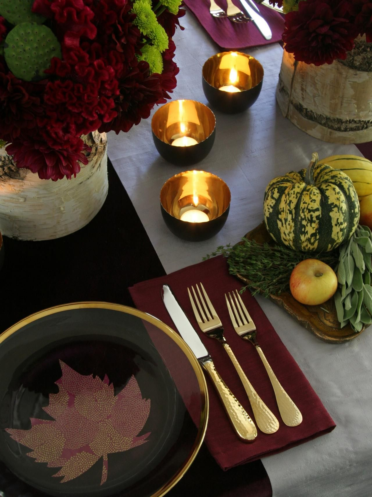 Thanksgiving Table Setting Ideas | Thanksgiving table settings ...