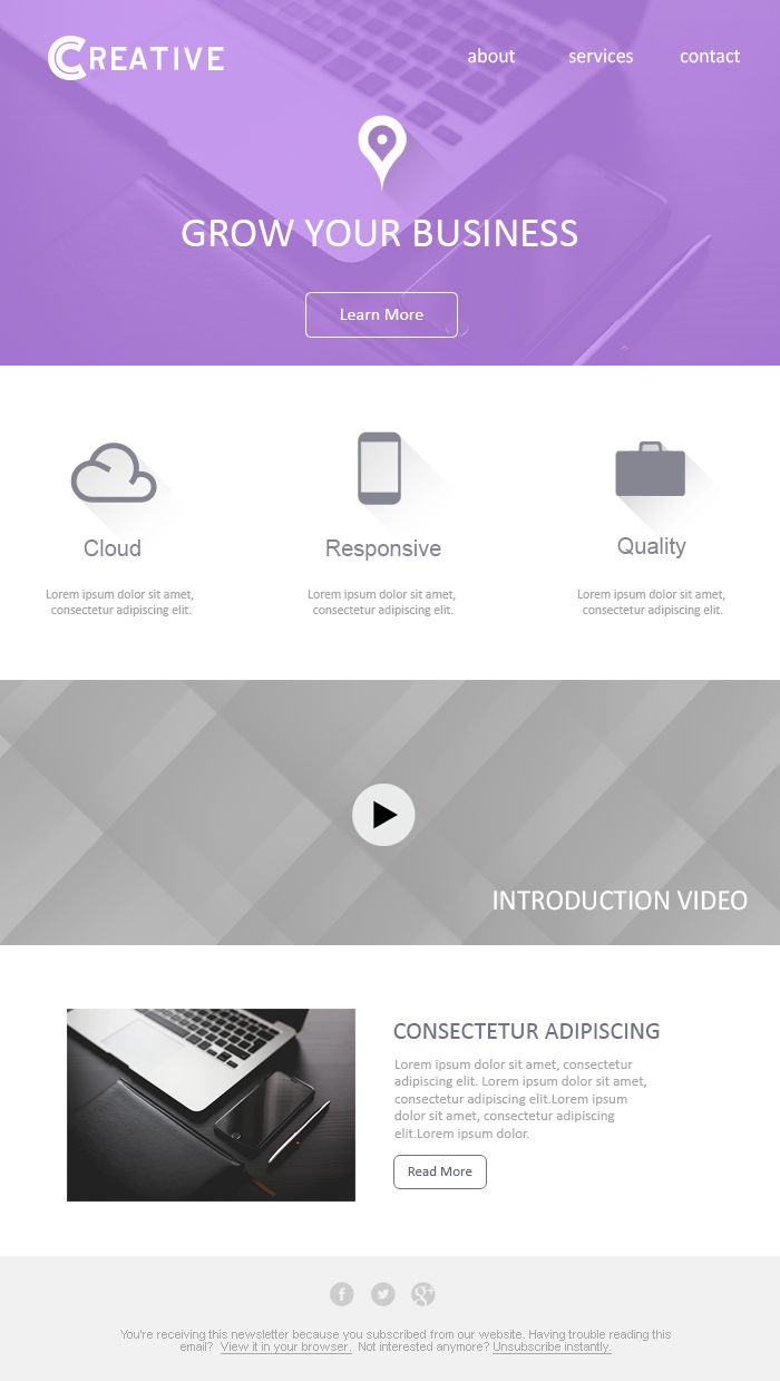 Business email template design psd template pinterest email business email template design accmission Images