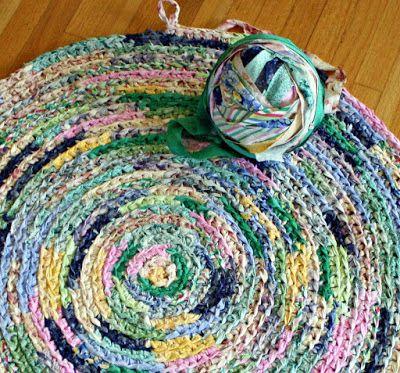 Crochet Rug Using Bias Fabric Strips Crochet Rag Rug Fabric Strips Crochet Rug