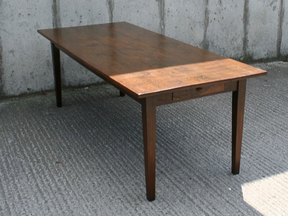 French Chestnut Provincial 7ft Farmhouse Table (Circa 1860)