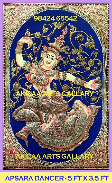 Apsara Dancer - Cambodia (With images)   Tanjore painting
