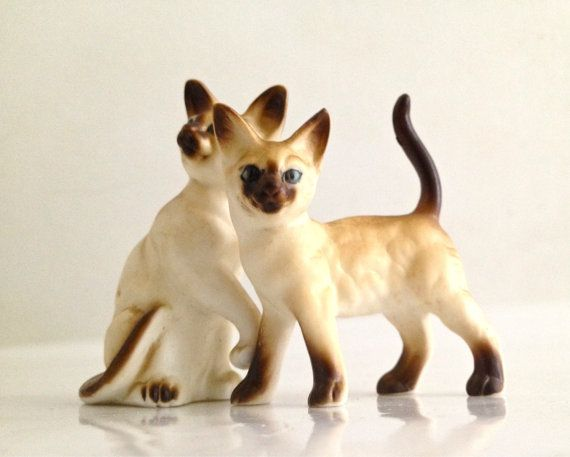 Bone China Siamese cats Japan by BlueSkyStudioGallery on Etsy, $20.00