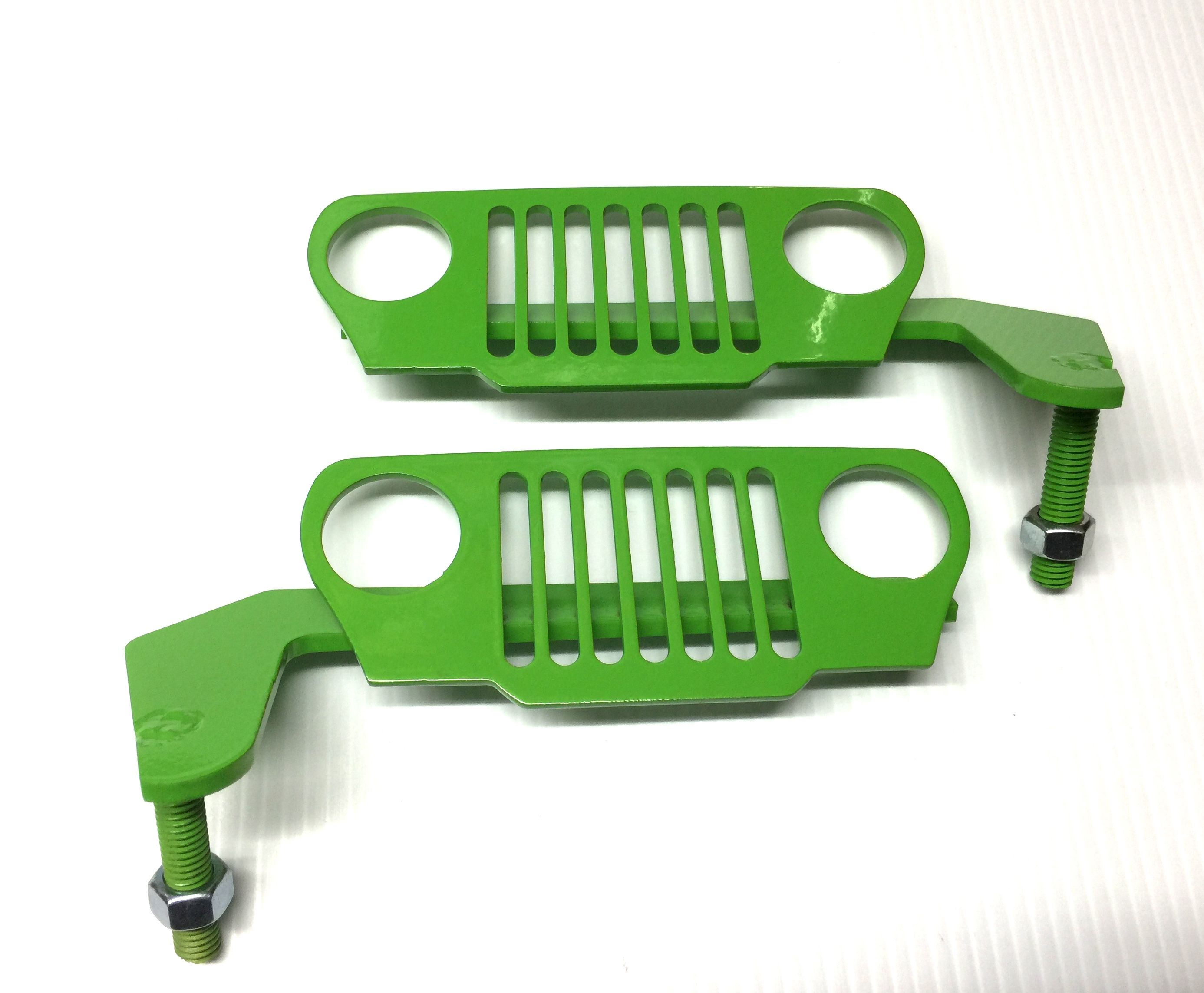 Tj Wrangler Foot Pegs Green Jeep Jeep Grill Truck Accessories