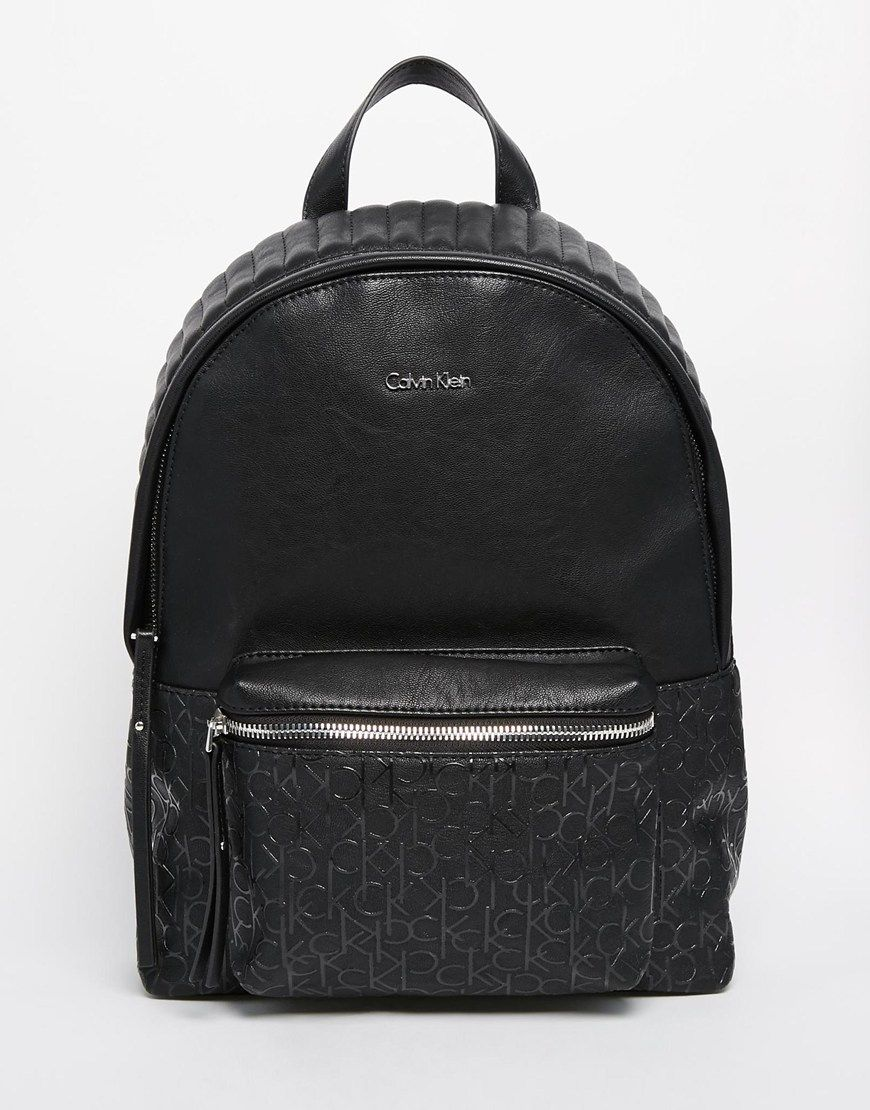 a7b7456586 Image 1 of Calvin Klein Backpack with Quilting Detail
