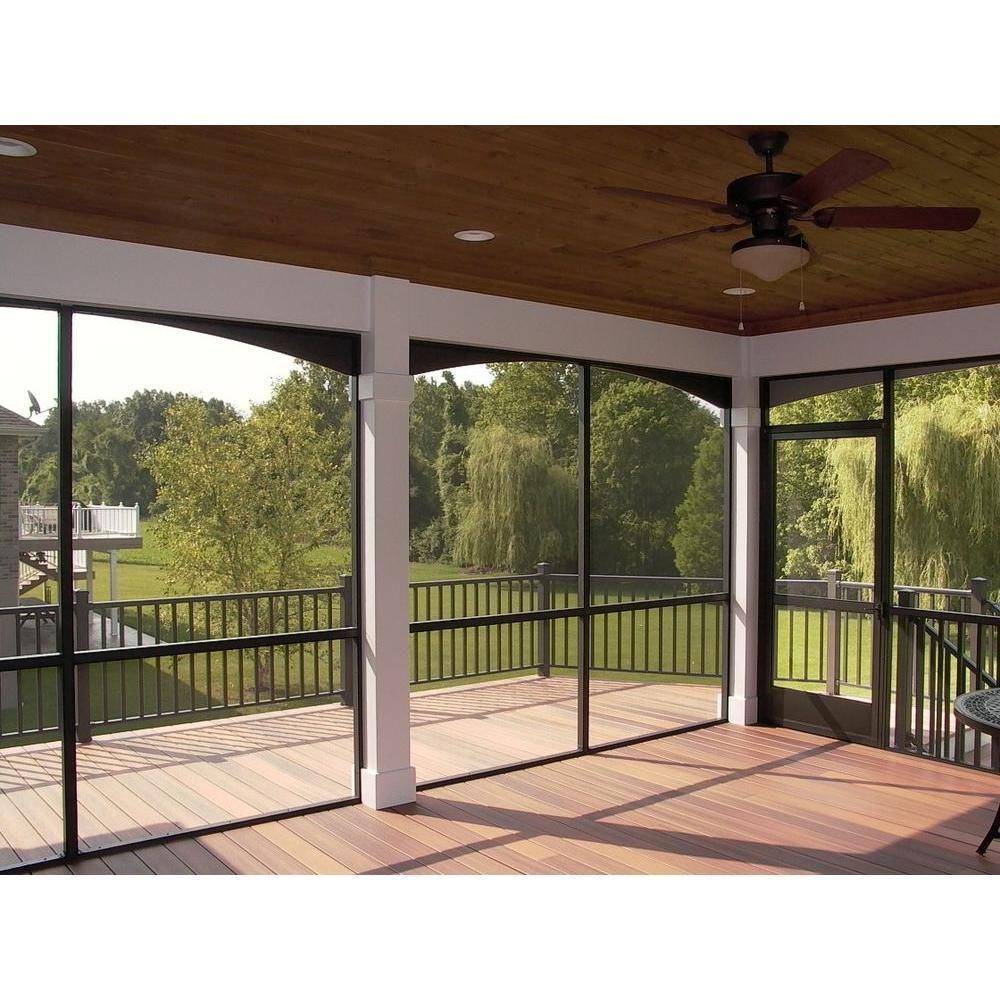 Ez Screen Room 8 Ft X 2 In X 2 In Bronze Screen Room Aluminum Extrusion With Spline Track Ezs In 2020 Screen Porch Kits Screened In Porch Diy Screened Porch Designs