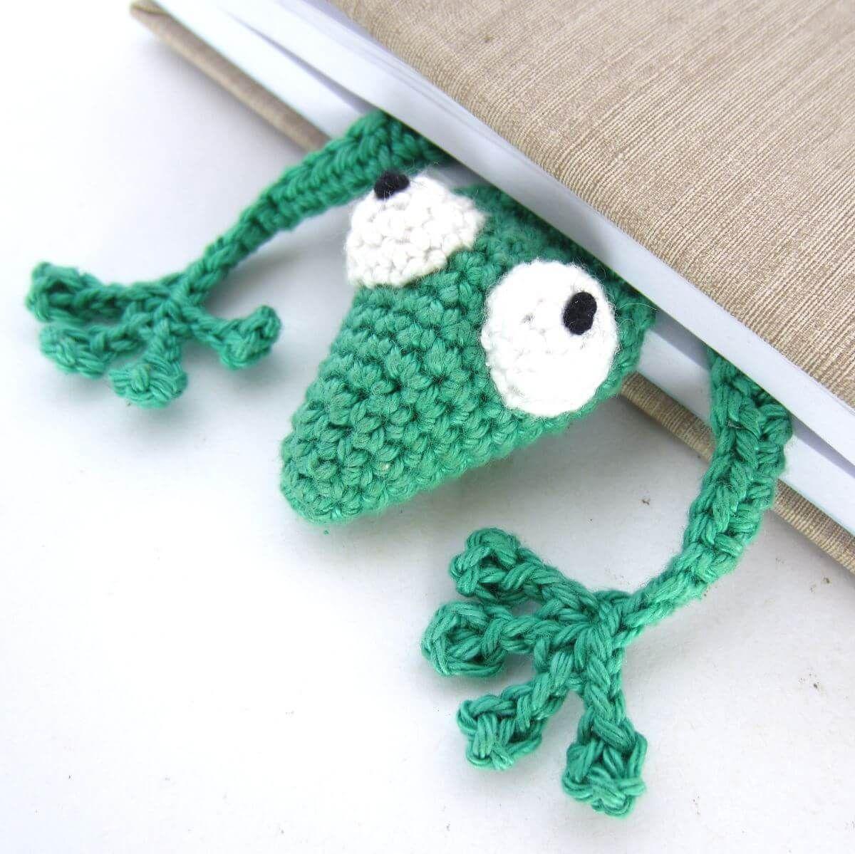 Amigurumi Gecko Lesezeichen Beitragsbild Handarbeiten Pinterest