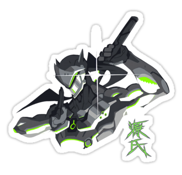 Genji overwatch stickers by danielo404 redbubble