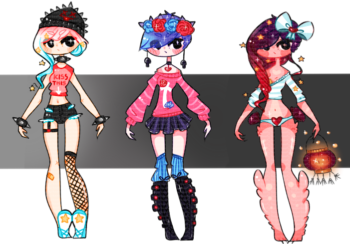 [1-3] Adopts ((CLOSED)) by SugarBooty on DeviantArt