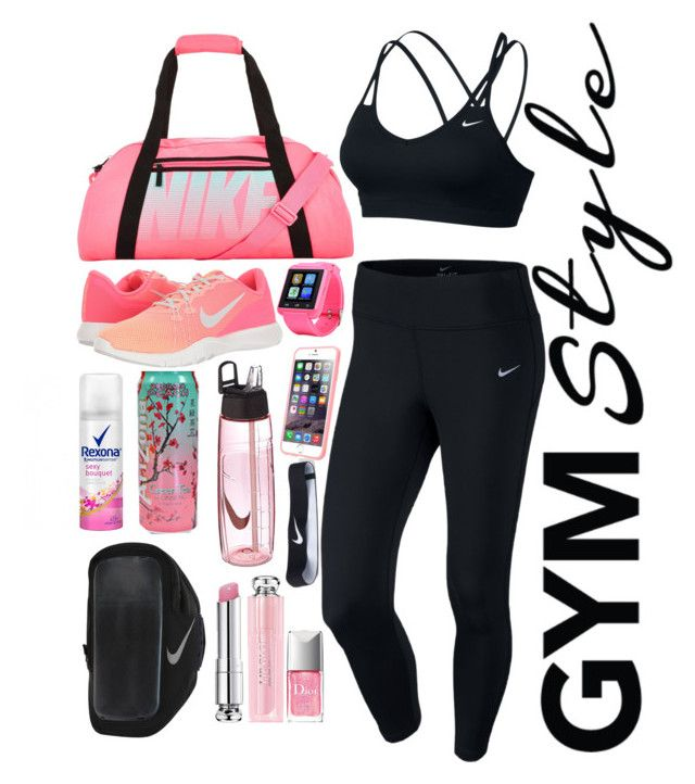 Make Yourself Strong  by collettechoquette on Polyvore featuring polyvore fashion style NIKE Christian Dior clothing