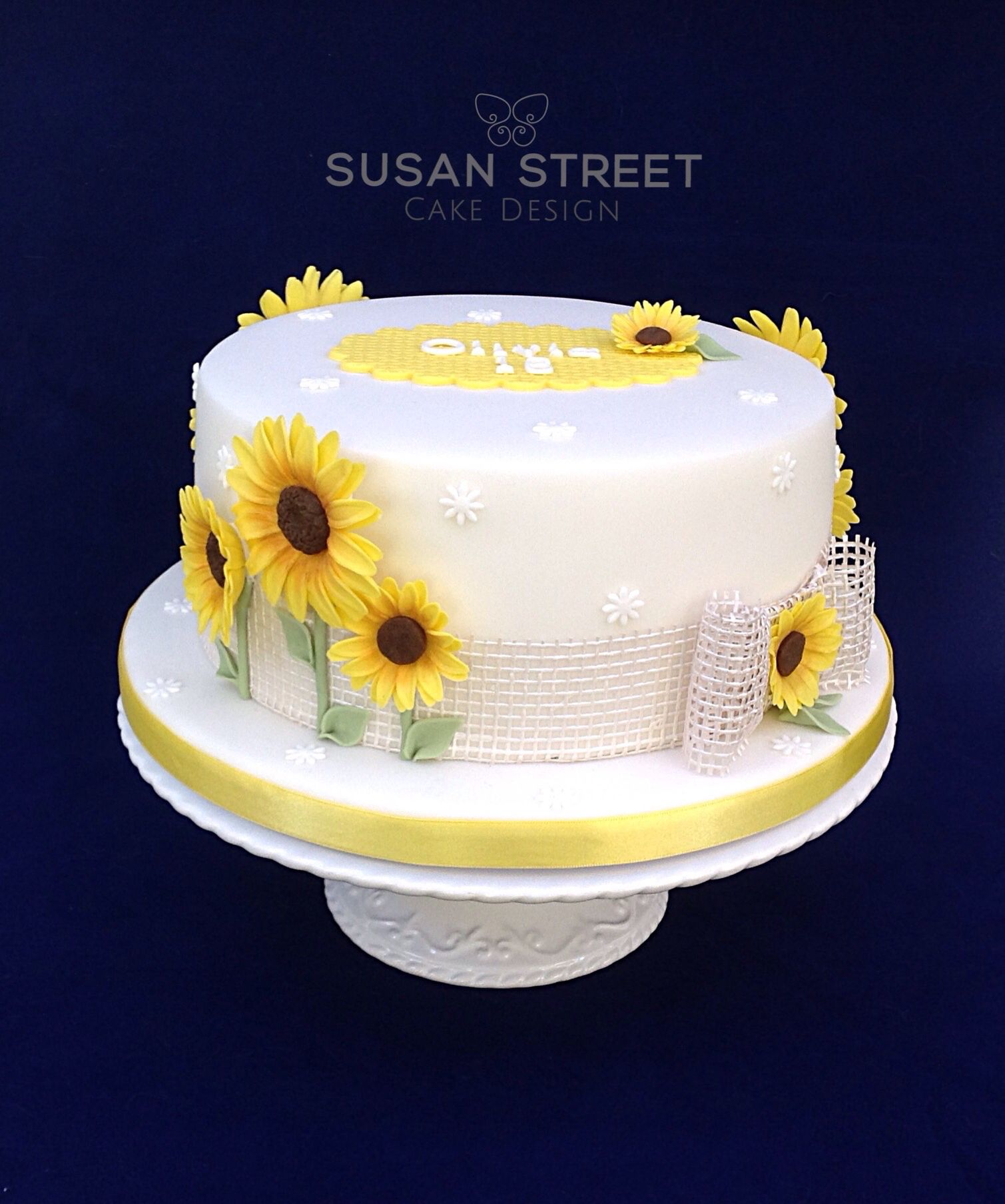 Sunflower Birthday Cake Sunflowers Pinterest Sunflower