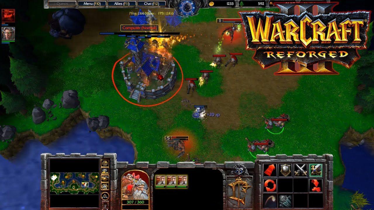 Warcraft 3 Reforged Human Vs Human Gameplay New Update