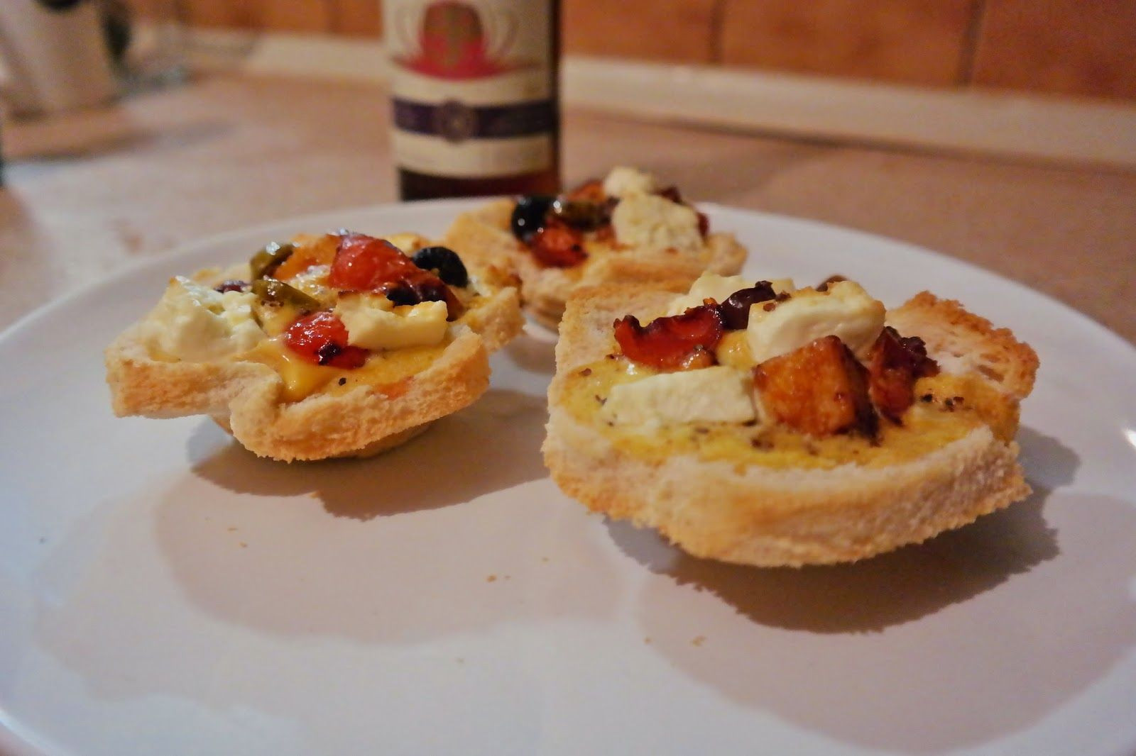 Eggy bread muffins with quorn and olives (I really don't know what to call this creation!)