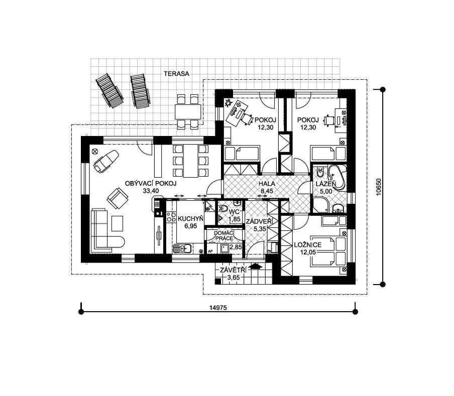 Projekt Bungalovu Kamil Vykres 363 Home Design Pinterest House