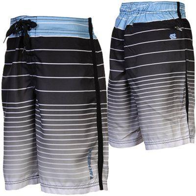 North Carolina Tar Heels (UNC) Youth Future QB Boardshort - Black/Carolina Blue