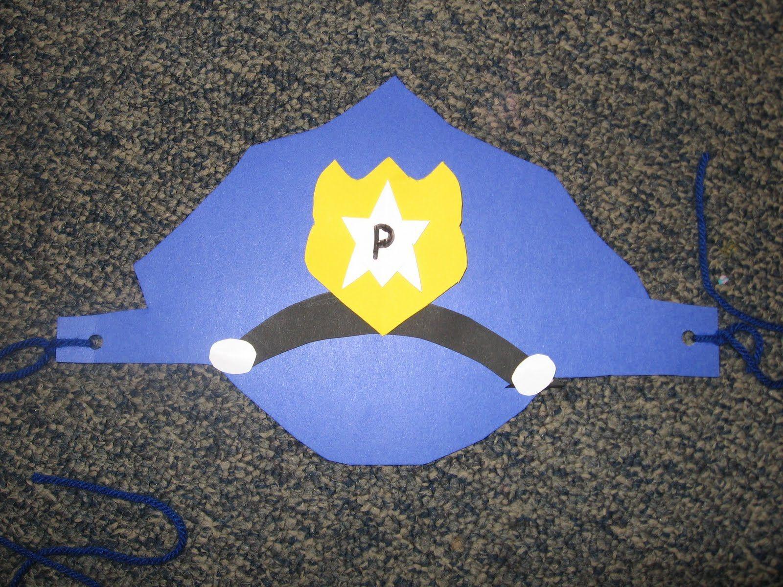 Community Helper - police hat | Community helpers crafts ...