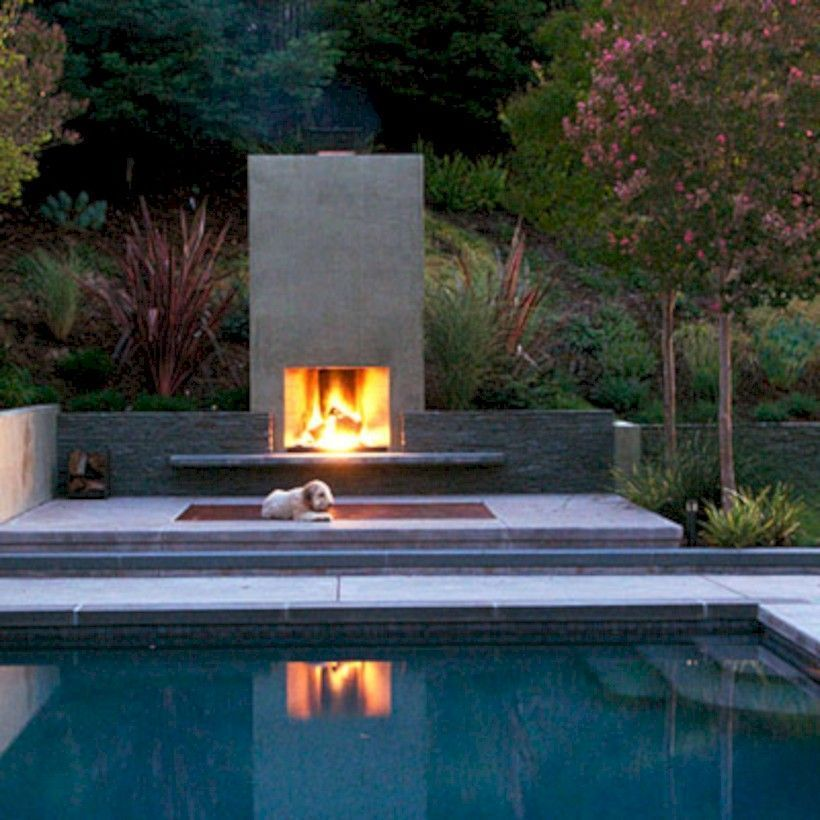 Nice 52 Stunning Outdoor Stone Fireplaces Design Ideas