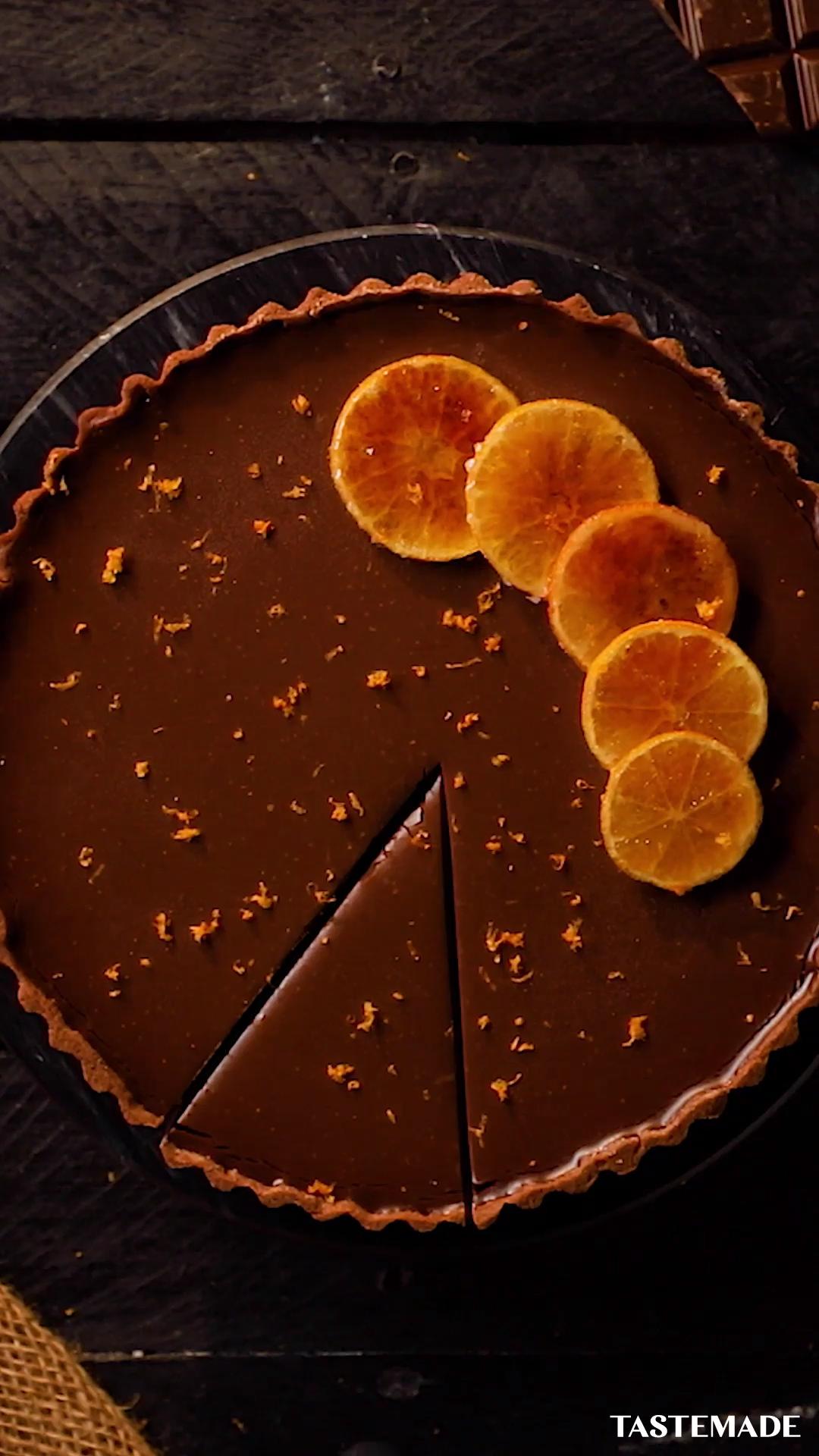 Chocolate and Clementine Tart
