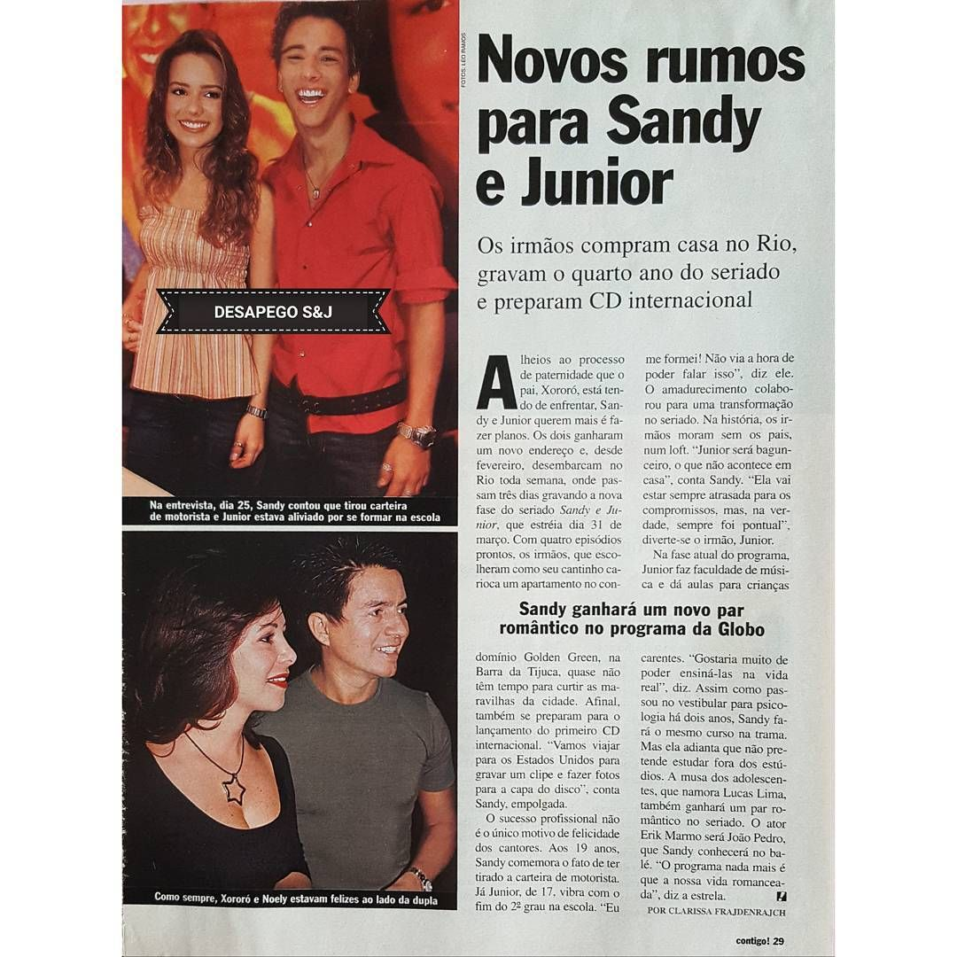 Pin Em Sandy E Junior